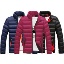 New Men's Winter Warm Zipper Padded Down Coat Slim Casual Outerwear Parka Jacket