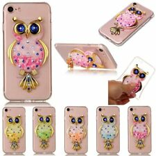 Soft Quicksand Case For iPhone iPod Transparent Glitter Dynamic Cover Orange Owl