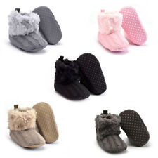 Baby /Infants Winter Autumn Warm Knitted Soft Fur Thick Solid Crib Shoes Boots