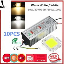 10PC 10/20/30/50/100W Waterproof High Power LED Driver Supply LED SMD Chip Bulb~