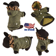 USA Winter Hoodie Costume Dog Clothes Pet Jacket Coat Puppy Cat Costumes Apparel