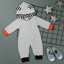 Newborn Unisex Baby Clothes Romper Boy Girl Hooded Jumpsuit Bodysuit Outfits Set