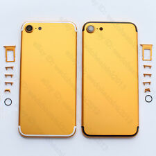 Gold & White / Black edge Metal Back Rear Housing Cover Replacement For iPhone 7