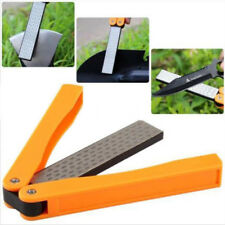 400/600 Grit Diamond Stone Knife Sharpener Double Sided Fine Sharpening Folding