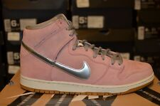 "Nike SB Dunk High Pro Premium Concepts ""When Pigs Fly"" Pink Suede 554673-610 DS"