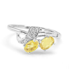 925 Sterling Silver Ring with Yellow Citrine Natural Gemstone Oval Cut Handmade