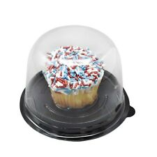 Clear Tapered Top Lid Cupcake Muffin Box Holder Food-Safe PET Container OA