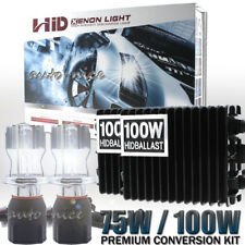 75W 100W Hi-Lo Bi-xenon Headlight HID Conversion Kit H4 H13 9004 9007 9003 9008