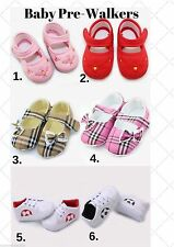 Cute Xmas Gift Baby Girl Boy Pre-Walkers, Soft Sole Shoe, 6 Style Choices