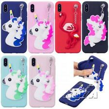 For iPhone X 8 7 6s plus 3D silicone soft TPU phone case rubber Flamingo unicorn