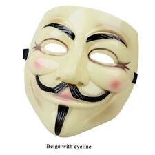 Xcoser V for Vendetta Cosplay Guy Fawkes Mask Black/Beige Adult Costume Gift