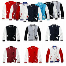 Mens Womens Baseball Jackets Unisex College Vintage Casual Tops Sweater Coats