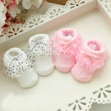 Cute Baby Girl Newborn Princess Lace Bowknot Infant Toddler Soft Cotton Socks