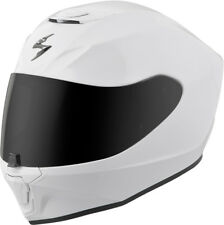 Scorpion Adult White EXO-R420 Solid Full Face Motorcycle Helmet Snell DOT