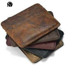 Leather wallet Credit card id holders man women card case holder