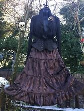 Quirky Bustle Victorian Gothic Pagan Velvet Skirt STEAMPUNK Punk Rave Holy 10-16