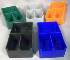 HANDY PLASTIC 3 SECTION STORAGE TRAY  ( CHOICE OF ( 1 )  3 SECTION TRAY COLOR  )