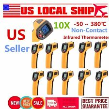 10PCS Non-Contact LCD IR Laser Infrared Digital Temperature Meter Thermometer US