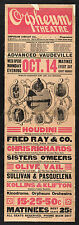 Photo Printed Old Poster: Vintage Stage Drama Flyer Theatre Theatre Flyer Orpheu