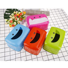 Smile Face Tissue Box Container Towel Napkin Tissue Box Organizer Table DecorH&T