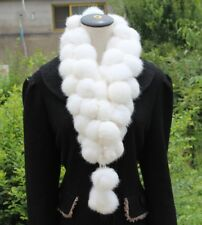 100% Real Rabbit Fur Scarf Shawl Collar Stole Cape Scarves Winter Scarf Wrap
