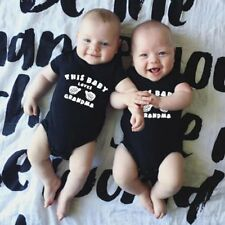 Summer Baby Unisex Short Sleeves Gesture & Letters Printing Triangle Romper XP