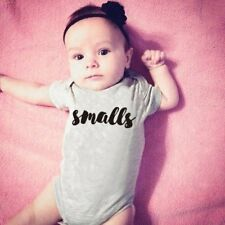 "Summer Baby Unisex Short Sleeves ""SMALL"" Letters Printing Triangle Romper XP"