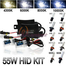 55W HID XENON Conversion KIT Headlight Slim Ballast H1 H3 H7 H8 H9 H11 9005 9006
