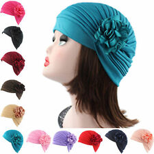 HA Women Flower Indian Stretch Turban Hat Chemo Cap Hair Loss Scarf Headwrap
