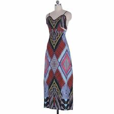 New Fashion Floral Print V Neck Sleeveless Casual Long Dress AK401