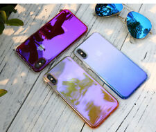 Aurora Gradual Colorful Case Gradient Change Clear Bumper Cover For iPhone X 10
