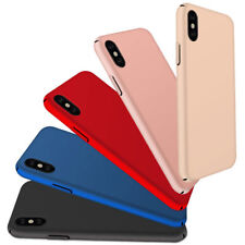 For Apple iPhone X 8 7 6 6S Plus Ultra Thin Slim Matte Hard Back Case Cover