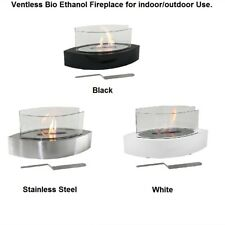 Ventless Tabletop Bio Ethanol Fireplace, Stainless Steel for indoor/outdoor use