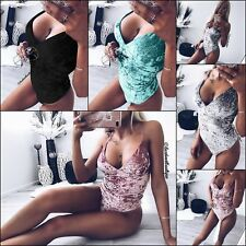 Women Jumpsuit Leotard Off Shoulder Romper Bodycon Slim Skinny Lady Clubwear Top