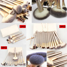 New 32Pcs Cosmetic Soft Eyebrow Shadow Pro Makeup Brush Set Kit + Pouch Bag