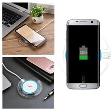 Qi Fast Wireless Charger Crystal Portable Charging Pad Stand For Samsung Galaxy