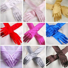 Evening Party Satin New Wedding Opera Formal Gloves Costume Bridal Prom Gloves