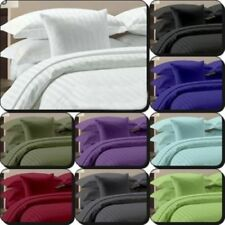 "1000TC Egyptian Cotton 15"" Deep Pocket 6pc Stripe Bed Sheet Set All Size & Color"