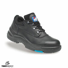 Himalayan 5100 S3 SRC Mens Black Leather HyGrip Steel Toe Cap Safety Shoes PPE