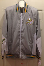 Oakland Athletics A's Track Jacket - RIPSTOP NYLON COLOR-BLOCKED JACKET by JH