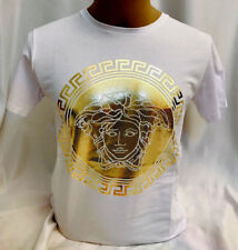 WINTER SHINING NWT Mens White Medusa T Shirt Front Gold Press -Buy Now