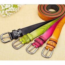 Lady Women Hollow Wide Leather Belt Pin Buckle Waist Strap Waistband Fashion Hot