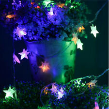 New Multi 10M 100 LED Five-pointed Star String Fairy Light Christmas Party Decor