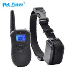 300M Remote Dog Training Collar Electric Shock Vibration Rechargeable Rainproof