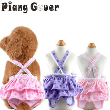 Dog Pet Sanitary Washable Trousers Princess Puppy Pants Underwear Suspenders Kit