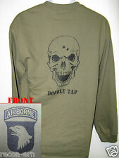 101 AIRBORNE LONG SLEEVE T-SHIRT/ SKULL DOUBLE TAP / MILITARY/ ARMY / NEW