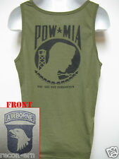 101ST AIRBORNE/ TANK TOP/ OD GREEN/ T-SHIRT/ MILITARY/ ARMY /  POW MIA   NEW