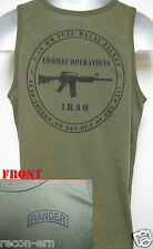 RANGER TANK TOP/ OD GREEN/ MILITARY/  IRAQ COMBAT OPS/ NEW