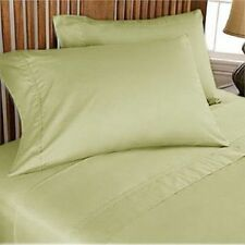 800TC EGYPTIAN COTTON BEDDING COLL. SHEET SET+DUVET COVER+BED SKIRT SAGE