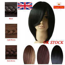 UK Womens Medium Long Straight Full Wig Anime Cosplay Party Costume Hair Wigs